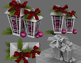 twine christmas decor 3D model