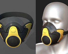 low-poly Gas mask protection futuristic technology fantasy