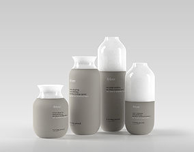 3D model No Frizz Set of Hair Products
