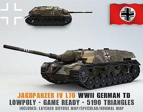 3D model Low Poly Jagdpanzer IV L70 tank destroyer