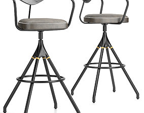 3D model District Eight-akron Bar Stool