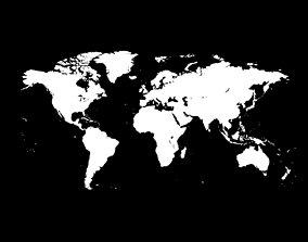 3D model Simple Vectorised World Map