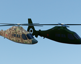 Cartoon Helicopter 3D asset low-poly