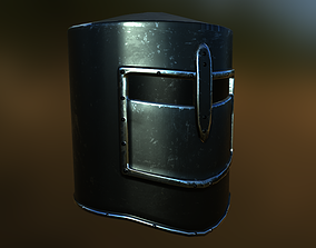 Great Helm 3D model game-ready