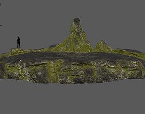 3D model old forest rocks