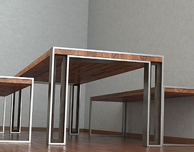 3D Charles Table and Bench