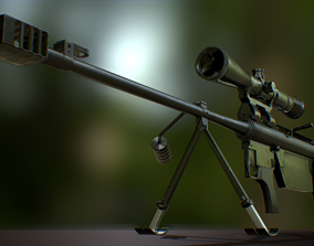 Falcon Sniper Rifle 3D asset game-ready