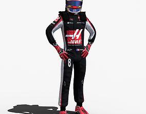 Romain Grosjean 2017 3D model