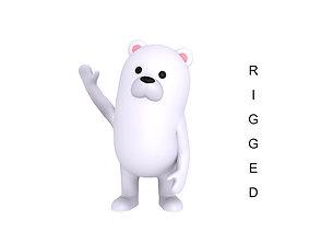 3D model Rigged Polar Bear Character