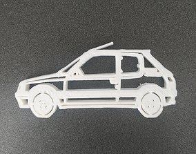 Peugeot 205 keychain 3D print model
