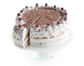 3D White Cake With Berries