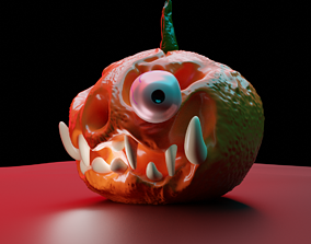 3D printable model 3D model HALLOWEEN pumpkin