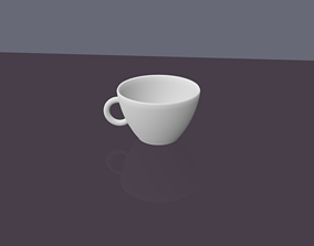3D asset Cup on the Table The cup is on a fairly 1