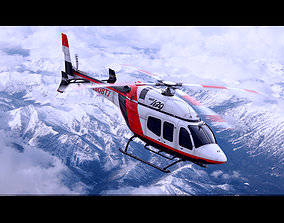 Bell 429 Private Red 3D