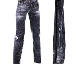 3D model Distressed Jeans