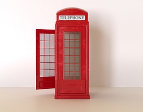 The red telephone box 3D model