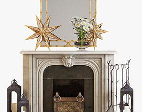Fireplace set 2 3D model