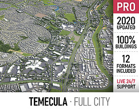 Temecula - city and surroundings 3D model