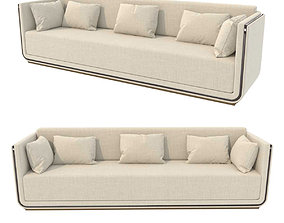3D model Custom made beige sofa