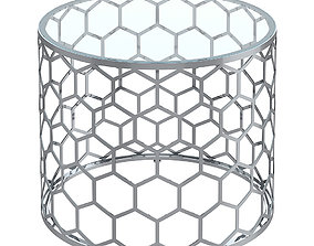 Allan Copley Designs Melissa Round Glass Top End Table 3D