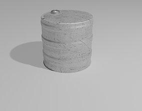 3D asset Aluminium Barrel