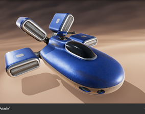 Spaceship Drone Paladin 3D asset