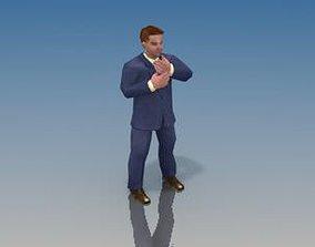 3D asset Businessman Game model