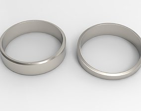 3D print model Patience Couple Ring Platinum Polished