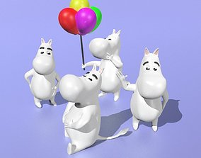 3D print model Moomins set of 4