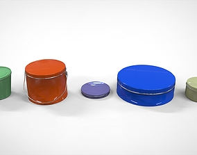 tools container bucket 3D model