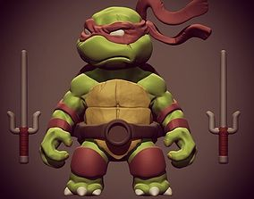 3D print model Chibi mutant ninja turtles - Raffa