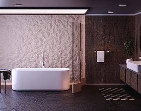 Luxury bathroom 3D model VR / AR ready