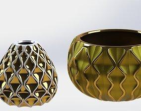 3D print model GOLDEN VASES
