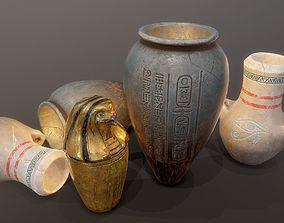 Egypt tomb jars PBR 3D model