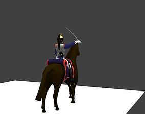 3D model Cuirassier heavy cavalery napoleon