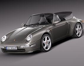 3D Porsche 911 993 Carrera Cabrio 1994-1997