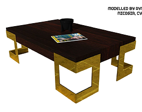 Coffee Table Type 3 3D asset