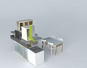 Zinc cooking The World Homes 3D