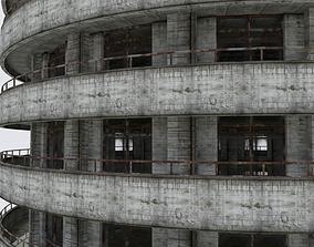 DAMAGED BUILDING WAR POST APOCALYPSE ABANDONED 3D asset