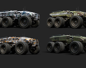 Technical Vehicle transporters Collection Plus 3D asset 1