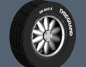 SPORTIVE WHEELS and TIRES 3D asset