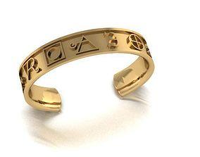 3D printable model bracelet alchemy symbol