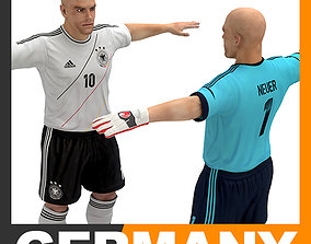 3D model Football Player and Goalkeeper - Germany National