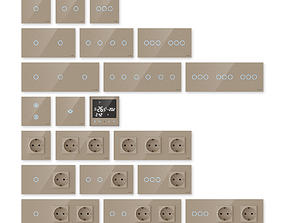 3D model TouchMe electric sockets and switches - Gold