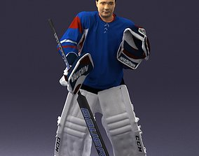 Male hockey goalie 0301 3D Print Ready