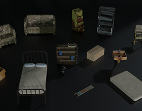 Apocalyptic furnitures dumpster 3D