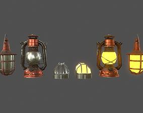 3D model Lamps Set - Game Ready