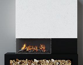 Fireplace modern 18 3D model