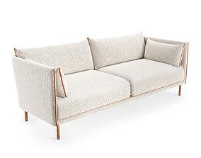 Hay Silhouette three-seater sofa 3D model