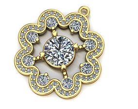 3D printable model wavy round necklace